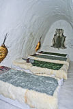 Sleeping room in an ice hotel Royalty Free Stock Photography