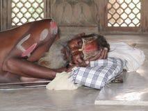 Sleeping Sadhu Stock Photography