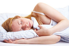 Sleeping safely Royalty Free Stock Photos