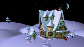 Sleeping Santa. 3d render of Sleeping Santa Royalty Free Stock Image