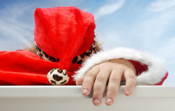 Sleeping Santa Royalty Free Stock Images