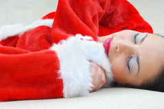 Sleeping Santa Royalty Free Stock Photo