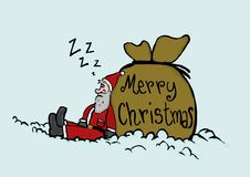 Sleeping Santa Claus Royalty Free Stock Photos