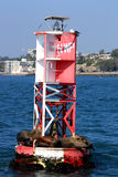 Sleeping sea lions. Sea lions sleeping on a bouy in a harbor Royalty Free Stock Photography