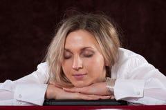 Sleeping secretary Royalty Free Stock Image