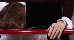 Sleeping secretary Stock Photography