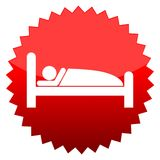 Sleeping sign, Red sun sign. Red sun sign sleeping sign,  icon Stock Image