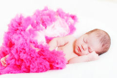 Sleeping small princess Stock Photography