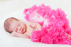 Sleeping small princess Stock Photo