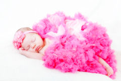 Sleeping small princess Royalty Free Stock Photography