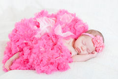 Sleeping small princess Stock Photos