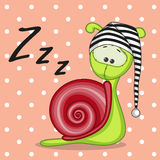 Sleeping snail Royalty Free Stock Photos