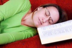 Sleeping on sofa Stock Photography