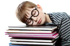 Sleeping student Stock Photos