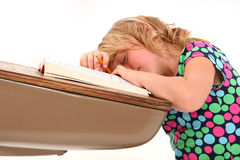 Sleeping Student Royalty Free Stock Images