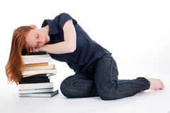 Sleeping Student Royalty Free Stock Photography