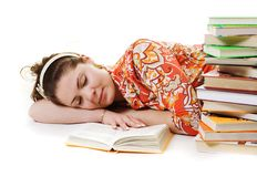Sleeping Student Stock Image