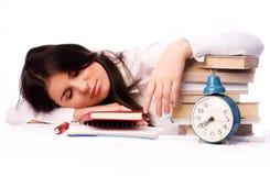 Sleeping student Stock Photography