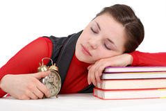 SLEEPING STUDENT Royalty Free Stock Image