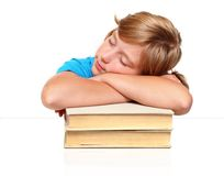 Sleeping student girl Stock Photography