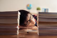 Sleeping student Royalty Free Stock Photos