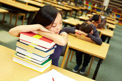 Sleeping students Royalty Free Stock Image