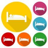 Sleeping symbol icon set. Sleeping symbol stickers, vector icon Stock Photos