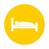 Sleeping symbol icon. Sleeping symbol stickers, vector icon Stock Photography