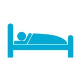 Sleeping symbol. Simple vector icon Stock Photography