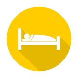 Sleeping symbol. Simple vector icon Royalty Free Stock Image
