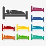 Sleeping symbol stickers. Vector icon Stock Images