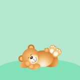 Sleeping teddy bear background Royalty Free Stock Photo