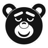 Sleeping teddy bear icon, simple style Royalty Free Stock Photos