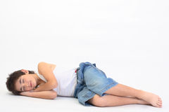 Sleeping teen Stock Photos
