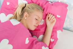 Sleeping teen girl Stock Photography