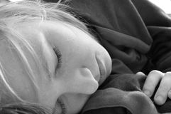 Sleeping Teenage Girl. An image of a pretty teenage girl sleeping Stock Images