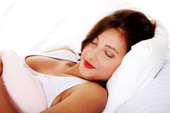Sleeping teenage girl. Royalty Free Stock Photo
