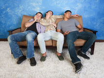 Sleeping Teenagers Royalty Free Stock Photography