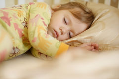 Sleeping toddler Stock Photography