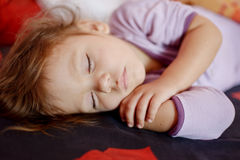 Sleeping toddler Royalty Free Stock Images