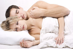 Sleeping together Royalty Free Stock Photography