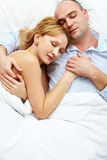 Sleeping together stock photography