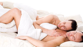 Sleeping together Royalty Free Stock Photos