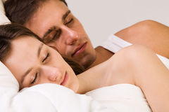 Sleeping toghether Royalty Free Stock Images