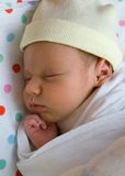 Sleeping tot royalty free stock image