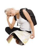 Sleeping tourist Stock Photography
