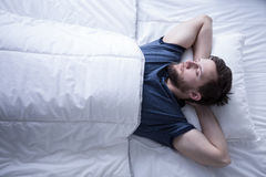 Sleeping after trying day Royalty Free Stock Images