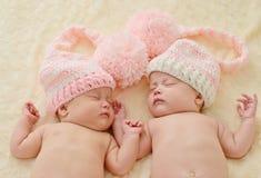 Sleeping twins Stock Photography