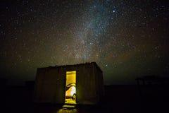 Sleeping under stars Stock Image