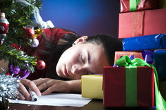 Sleeping under the tree Royalty Free Stock Photography